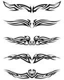 Tatuagens tribais ajustadas Imagens de Stock Royalty Free