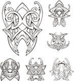 Tatuagens tribais sim?tricos do n? Imagem de Stock
