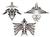 Tatuaggi degli uccelli fantastici. Fotografia Stock