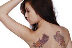 Tatuaggi dell'ala Fotografia Stock