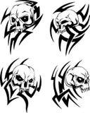 Tatuaggi tribali del cranio Fotografia Stock Libera da Diritti