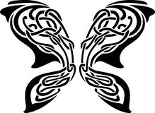 Tatuaggio astratto della farfalla Fotografia Stock