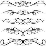 Tatuaggio calligrafico Fotografia Stock Libera da Diritti