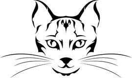 Tatuaggio capo del gatto Fotografia Stock Libera da Diritti