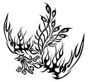 Tatuaggio con Phoenix Fotografia Stock Libera da Diritti