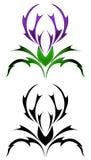 Tatuaggio del cardo selvatico Fotografia Stock Libera da Diritti