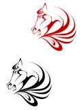 Tatuaggio del cavallo Fotografia Stock Libera da Diritti