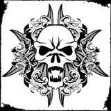 Tatuaggio del cranio Immagini Stock