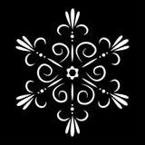 Tatuaggio del fiocco di neve o del fiore di vettore isolato estratto Fotografia Stock