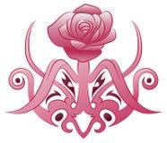 Tatuaggio del fiore della zanna Immagini Stock Libere da Diritti