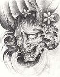 Tatuaggio del giapponese di Kabuki illustrazione vettoriale