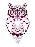 Tatuaggio del gufo Fotografia Stock