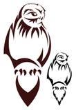 Tatuaggio del gufo Fotografie Stock