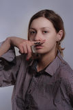Tatuaggio del Moustache fotografia stock