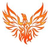 Tatuaggio dell'aquila del fuoco Fotografia Stock Libera da Diritti