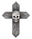 Tatuaggio dell'incrocio del cranio di arte Immagine Stock Libera da Diritti