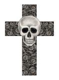 Tatuaggio dell'incrocio del cranio di arte Fotografia Stock Libera da Diritti