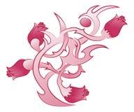 Tatuaggio dell'ornamento dei fiori Immagine Stock