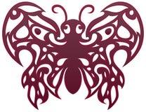 Tatuaggio dell'ornamento della farfalla Immagini Stock