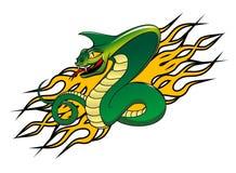 Tatuaggio della cobra del pericolo Fotografie Stock