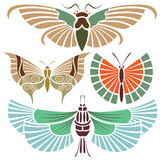 Tatuaggio della farfalla Fotografia Stock Libera da Diritti