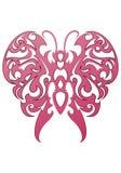 Tatuaggio della farfalla del fuoco Fotografia Stock