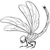Tatuaggio della libellula illustrazione di stock