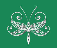 Tatuaggio della libellula Fotografia Stock