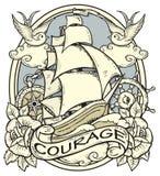 Tatuaggio della nave royalty illustrazione gratis