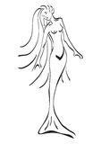 Tatuaggio della sirena Fotografia Stock