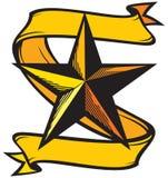 Tatuaggio della stella Fotografia Stock Libera da Diritti