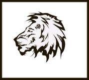 Tatuaggio della testa del leone dell'illustrazione di vettore Fotografia Stock