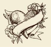 Tatuaggio di amore Fotografia Stock Libera da Diritti
