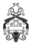 Tatuaggio di Blackpowder Fotografie Stock Libere da Diritti