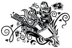 Tatuaggio di esplosione del silenziatore Fotografie Stock Libere da Diritti