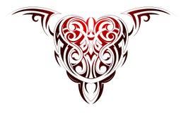 Tatuaggio di forma del cuore illustrazione vettoriale