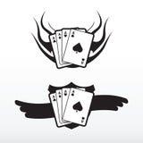 Tatuaggio di Playcard Fotografia Stock Libera da Diritti