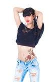 Tatuaggio di Rosa Fotografia Stock Libera da Diritti