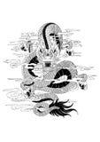 Tatuaggio Dragon Draw Fotografia Stock Libera da Diritti