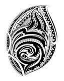 Tatuaggio etnico polinesiano di stile royalty illustrazione gratis
