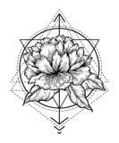 Tatuaggio floreale astratto royalty illustrazione gratis