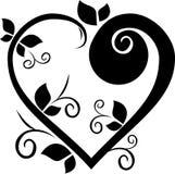 Tatuaggio floreale del cuore di disegno Fotografie Stock Libere da Diritti