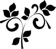 Tatuaggio floreale di disegno Fotografia Stock