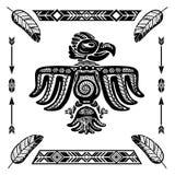 Tatuaggio indiano tribale dell'aquila Fotografia Stock