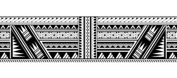 Tatuaggio maori della manica di stile illustrazione di stock