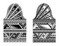 Tatuaggio maori di stile di dimensione della manica Immagini Stock Libere da Diritti