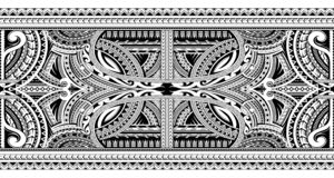 Tatuaggio ornamentale polinesiano immagine stock
