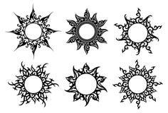 Tatuaggio, ornamenti floreali illustrazione di stock