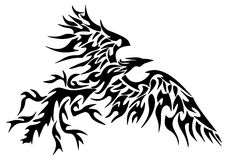 Tatuaggio Phoenix tribale Fotografie Stock