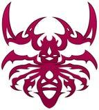 Tatuaggio rosso dell'insetto Fotografie Stock